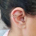 Piercing Fake Zircônia Coração Dourado