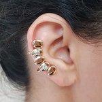 Brinco Ear Cuff Oval Dourado