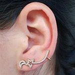 Conjunto Ear Cuff Noite Dourado