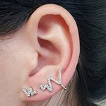 Conjunto Ear Cuff Snake Prata