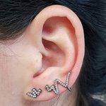 Conjunto Ear Cuff Snake Grafite