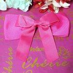 Bico De Pato Laço Listras Pink
