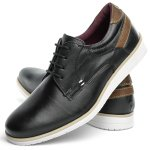 Sapato Casual Masculino Látego Venezia Derby Oxford Mr Light - 602 - Preto