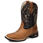 Bota Country Texana Lisa Bico Quadrado Dallas Tch - 223 - Castor