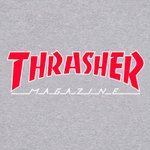 CAMISETA THRASHER OUTLINED GREY