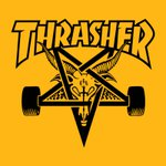 CAMISETA THRASHER SKATEGOAT YELLOW