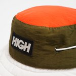NAUTICAL BUCKET HAT HIGH LOGO GREEN WHITE