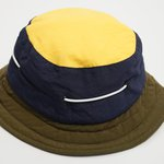 NAUTICAL BUCKET HAT HIGH LOGO NAVY GREEN