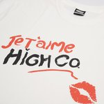 CAMISETA HIGH TEE LIPSTICK WHITE