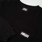 LONGSLEEVE HIGH POCKET LABEL BLACK