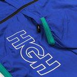 SHELL JACKET HIGH LOGO BLUE/GREEN