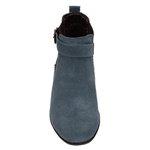 Botina Feminina cano curto 2253 Camurça Azul