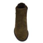 Botina Chelsea Boots Feminina Legitimo Escrete 2464 Couro Camurça Verde Musgo
