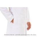 Jaleco Unissex Plus Size em Microfibra Gola Padre com punho - Manga Longa - Branco