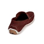 Mocassim Casual Youth Couro Bordô 5000