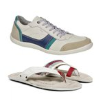 KIT SPORT - SAPATÊNIS CASUAL + CHINELO MASCULINO OFF WHITE