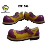 Sapato de Palhaço Feminino Amarelo com Bico Roxo Ref 906