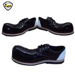 Sapato de Palhaço Preto com Detalhe em Branco Ref 503