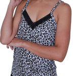 Pijama Adulto Animal Print Preto