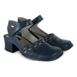 Sapato Em Couro New kelly Navy J.Gean