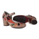 SAPATO EM COURO TAUPE J.GEAN AMOSTRA ST0043-09