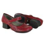 Sapato Em Couro New Kelly Romã J.Gean
