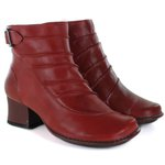 Bota Em Couro New Kelly Rouge J.Gean