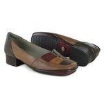 Sapato New Mariah Amêndoa Em Couro J.Gean