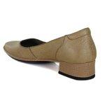 Sapato New Mariah Nude Em Couro J.Gean