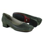 Sapato New Mariah Oliva Em Couro J.Gean