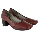 Sapato Em Couro Galeany Médio Vermelho J.Gean