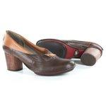 Sapato Em Couro Lolla Alto Coffe J. Gean