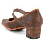 Sapato Em Couro Galeany Laranja J.Gean