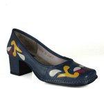 Sapato Em Couro Galeany Médio Navy J.Gean