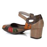 Sapato Em Couro Galeany Médio Taupe J.Gean