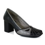 Sapato Em Couro Galeany Alto Preto J.Gean