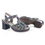 Sandália em Couro Desiree Stone J.Gean BF0003-22