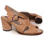 Sandália em Couro Lolla Alta Suede J.Gean BH0018-02