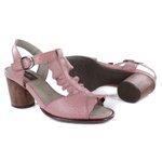 Sandália em Couro Lolla Alta Salmão J.Gean BH0022-01 Madeira
