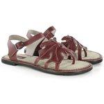 Sandália Em Couro Rasteira Ariane Vermelha J.Gean