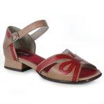 Sandália em Couro Agatha Taupe J.Gean BJ0027-01