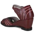 Sandália Em Couro Susan Anabela Alta Vermelha J.Gean