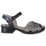 Sandália em Couro Emily Preta J.Gean BO0023-03