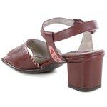 Sandália Em Couro Galeany Médio Vermelha J.Gean