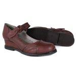 Sapato em Couro Anabela Susan Baixo Vermelho J.Gean DC0005-01