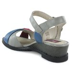 Sandália Em Couro Susan Anabela Médio Aço J.Gean
