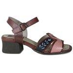 Sandália em Couro Kelly Vermelha J.Gean DG0003-03