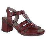 Sandália em Couro Desiree Vermelha J.Gean BF0012-06