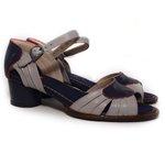 Sandália em Couro Lolla Baixa Blue J.Gean BG0021-01