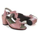Sandália em Couro Lolla Alta Salmão J.Gean BH0022-01